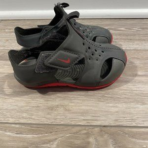 NIKE Baby Sandals Hook & Loop No Lace Black Size 7